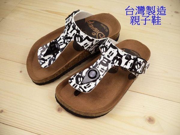 EMMA商城^~親子鞋..媽咪~ Disney迪士尼米奇滿版夾腳拖鞋黑色36~40號~~
