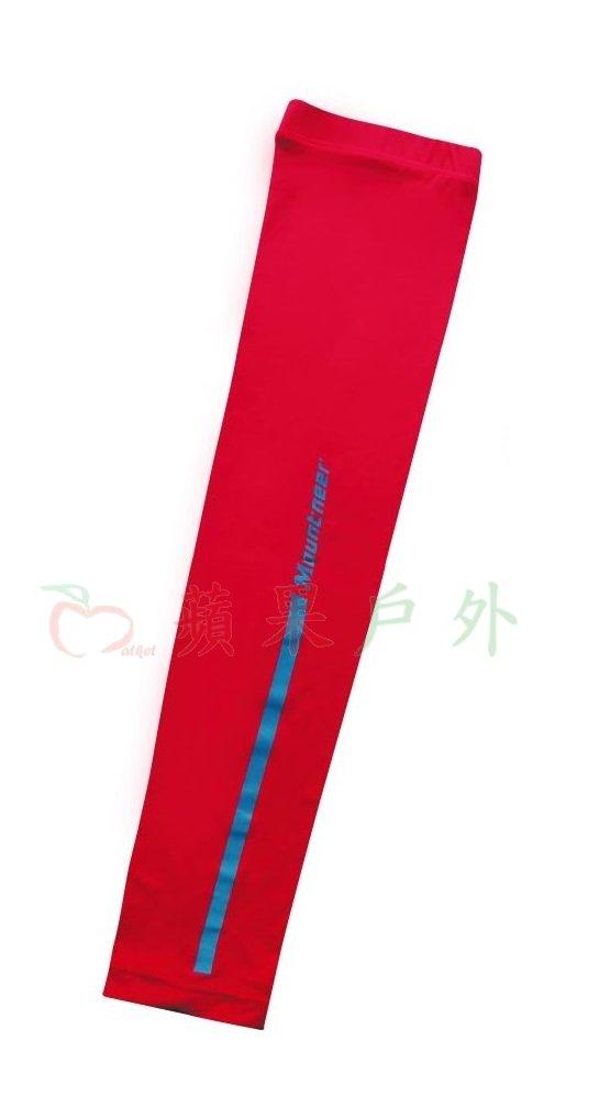 【【蘋果戶外】】山林 11K99-37 紅色 Mountneer 中性款 抗UV冰涼反光防曬袖套 單車袖套 機車袖套