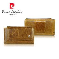 [ iPhone6/6s Plus ] Pierre Cardin法國皮爾卡登5.5吋高級牛皮腰掛式真皮手機套/保護套/皮套 棕色