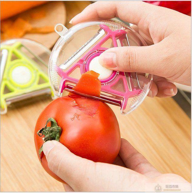 【多功能旋轉削皮器】切菜器 削皮刀 刨絲器 去皮刀【狂麥市集】