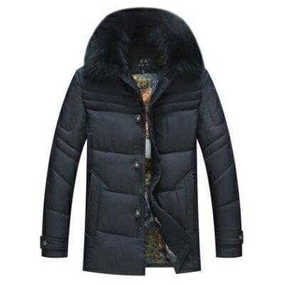 羽絨外套毛領夾克-時尚可拆卸加厚保暖男羽絨衣3色73ka30【獨家進口】【米蘭精品】