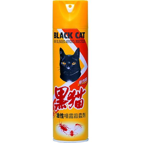 黑貓 油性 噴霧殺蟲劑 600ml