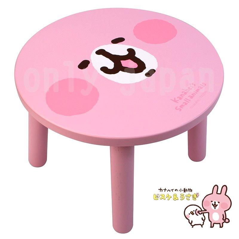 【真愛日本】18051200022 圓木椅-大臉兔兔 卡娜赫拉 兔兔 P助 木椅 凳子 小矮凳 小椅子 傢俱