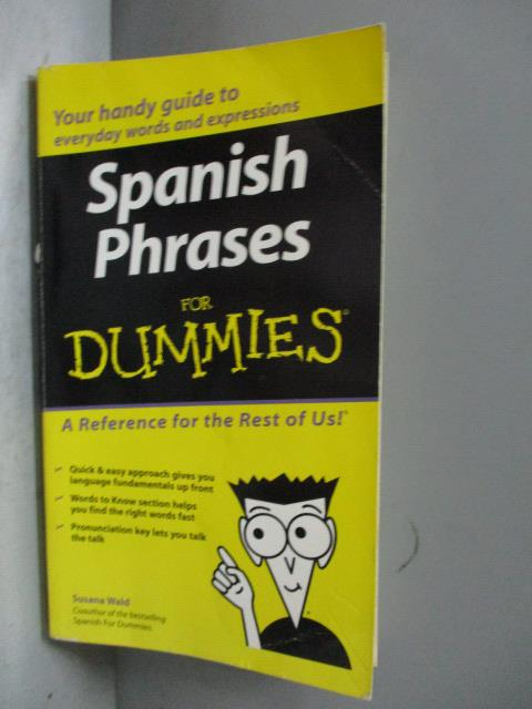 ~書寶 書T8/原文書_NKI~Spanish Phrasebook for Dummie