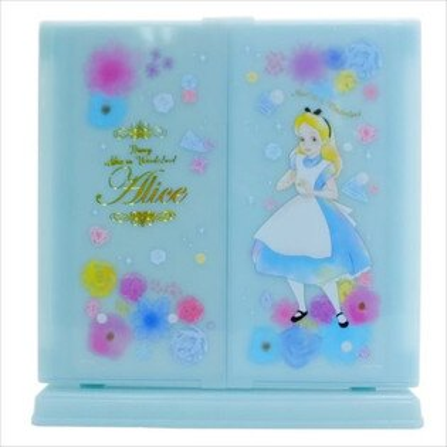 X射線【C064120】愛麗絲夢遊仙境Alice化妝鏡,鏡子方鏡化妝鏡桌上鏡隨身鏡摺疊鏡立鏡