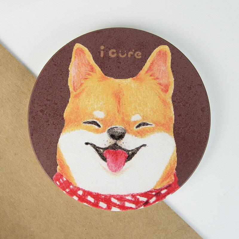 icure吸水杯墊-i magic-手繪風 柴犬狗 犬