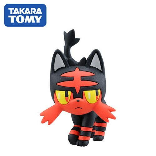 【日本進口】火斑喵 Litten 寶可夢 造型公仔 MONCOLLE-EX 神奇寶貝 TAKARA TOMY - 968382