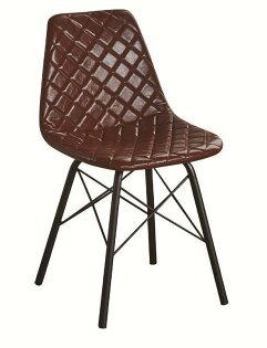 【石川家居】JF-487-6韋恩咖啡皮餐椅(單只)(不含其他商品)台北到高雄搭配車趟免運