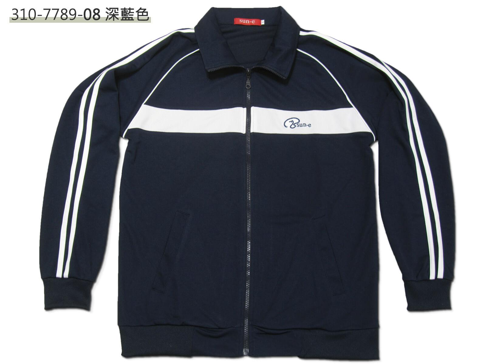 sun-e台灣製吸濕排汗薄外套、運動外套、單層薄外套、防曬外套、手臂配色織帶(310-7789-08)深藍色、(310-7789-21)黑色、(310-7789-22)深灰色 尺寸:L XL(胸圍:44~46英吋)(男女可穿) [實體店面保障] 1
