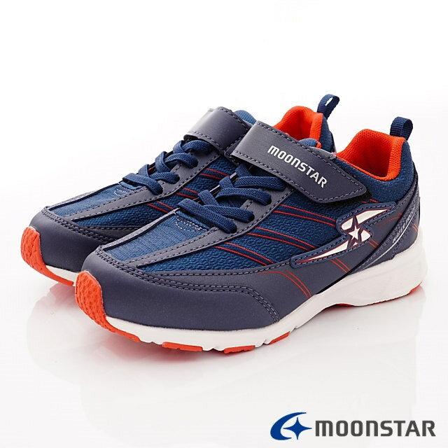 日本Moonstar機能童鞋 防水系列運動鞋 9295深藍(中大童段) 0