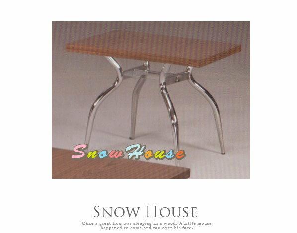 ╭☆雪之屋居家生活館☆╯A386-06 電鍍腳歐風小茶几/餐桌/茶桌/咖啡桌/置物桌**棕胡桃面