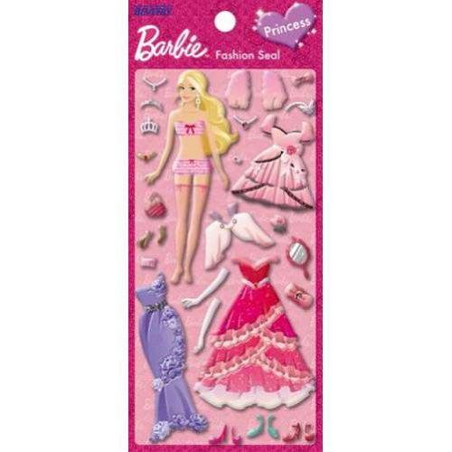X射線【C161394】芭比Barbie 娃娃貼紙,便條/貼紙/記事本/辦公小物/文具用品/開學