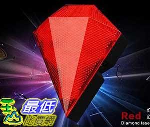 [106玉山最低比價網] 充電式多段式 鑽石燈 自行車 LED警示燈 尾燈 雷射劃線 紅