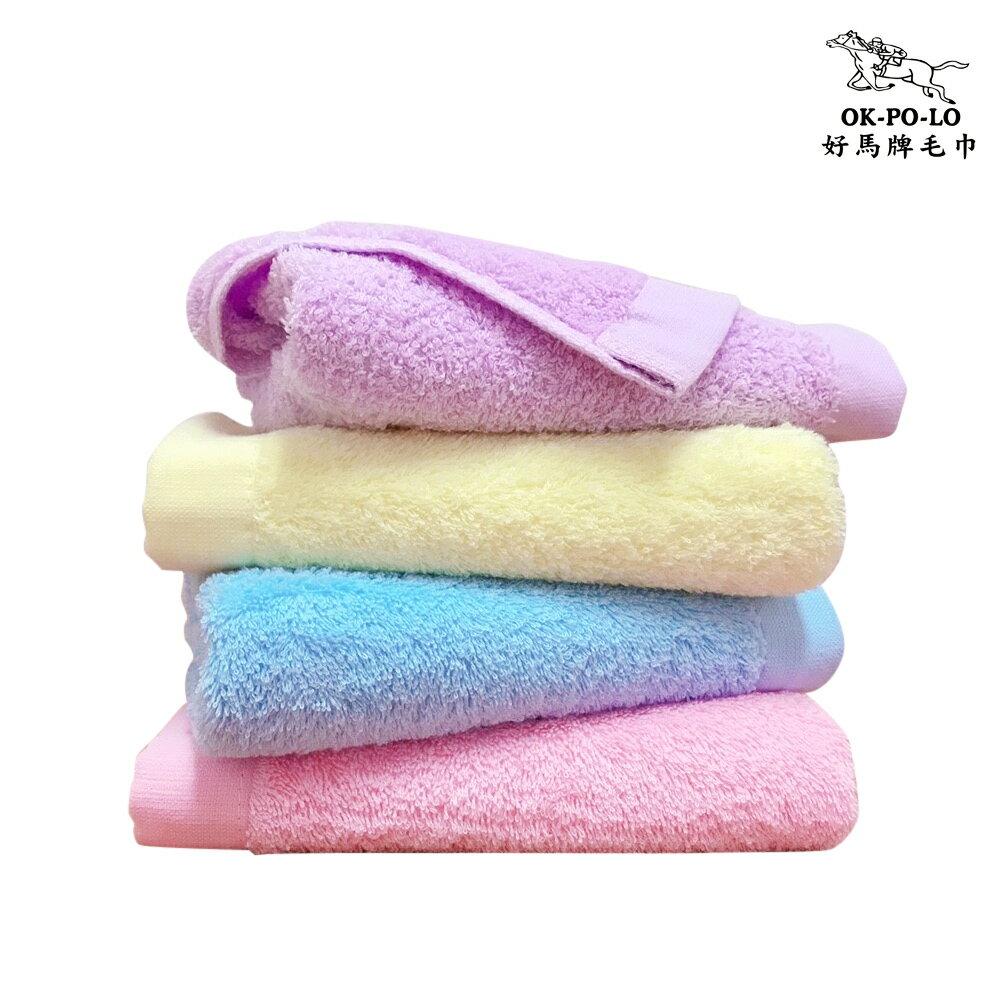 毛巾 浴巾 台灣製造馬卡龍重磅毛巾-12入組(吸水厚實柔順)【OKPOLO】