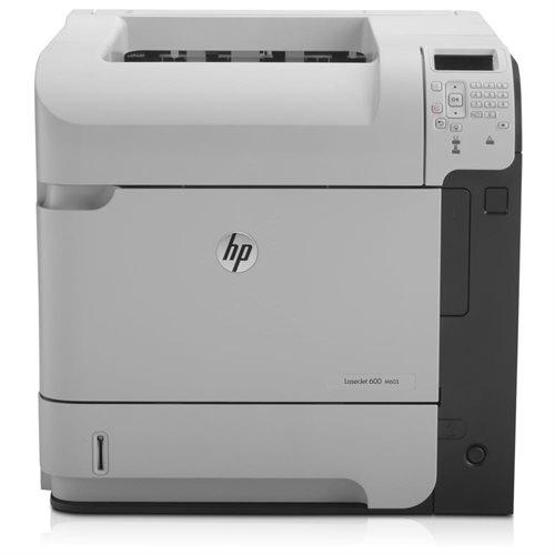 Refurbished HP LaserJet 600 M603N Laser Printer - Monochrome - 1200 x 1200 dpi Print - Plain Paper Print - Desktop - 62 ppm Mono Print - 275000 Duty Cycle - LCD - Ethernet - USB