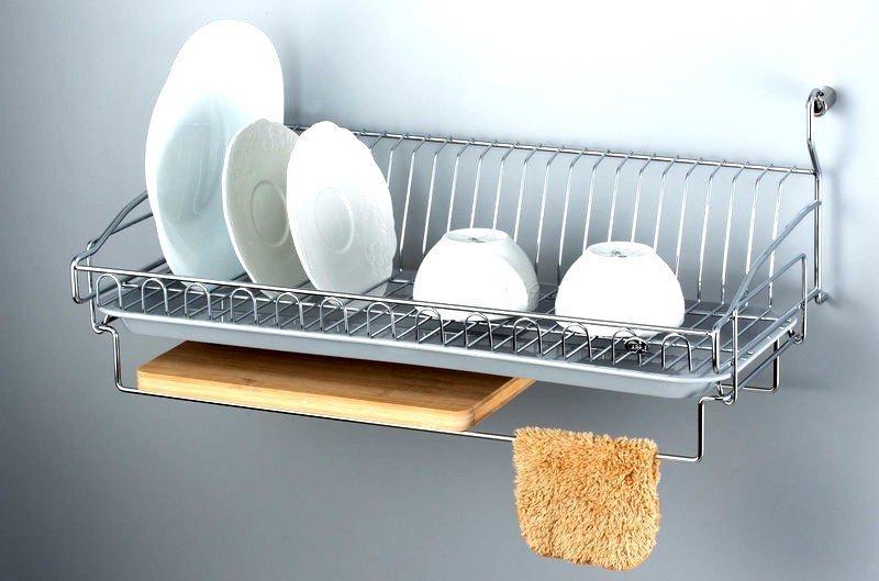 廚房304不銹鋼 掛式碗盤砧板架 優雅收納餐具瀝水架