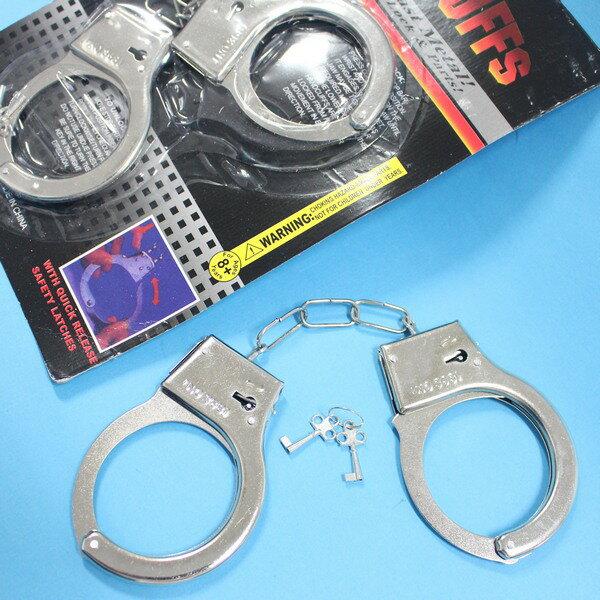 鐵手銬金屬手銬368童玩手銬玩具手銬手鐐手扣玩具(大)一袋50個入{促50}~5109