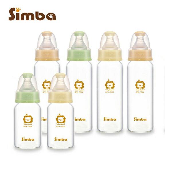 Simba小獅王辛巴 - 超輕鑽標準玻璃奶瓶特惠組 (4大2小)加贈nac nac - 奶蔬洗潔精200ml! 0