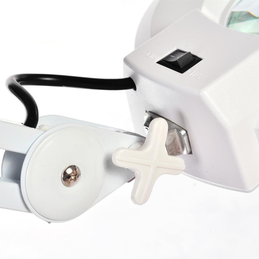 8X Desk Table Clamp Mount Rolling Adjustable Magnifier Lamp Light Magnifying Glass Len 110V US Plug 3