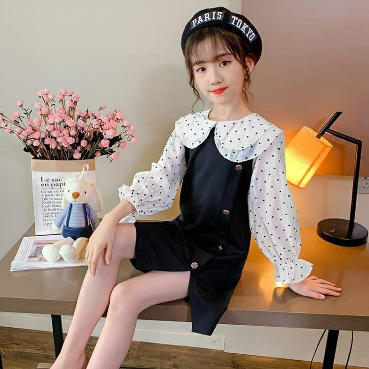 女童秋裝洋裝新款洋氣韓版中大兒童小香風公主裙長袖裙子潮  全館免運