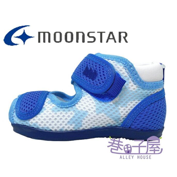 Moonstar月星Carrot機能童鞋 童款魚口透氣學步鞋 寶寶鞋 [MSB985] 藍【巷子屋】