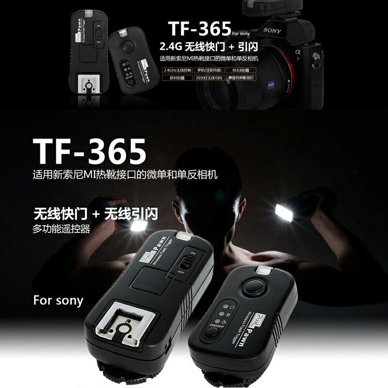 又敗家@Pixel品色Sony副廠引閃器觸發器兼無線電快門遙控器PAWN TF-365適a99,a77 II,a68,a65,a58,a57,a37 NEX-6 a7s,a7r,a7,a6500,a6..
