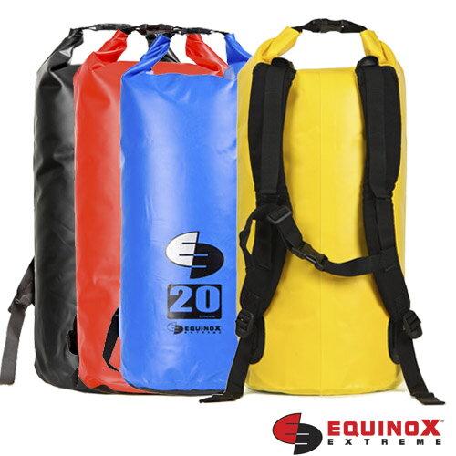 【【蘋果戶外】】EQUINOX314100%防水袋20L二十公升(雙肩背)浮潛水衝浪游泳溯溪海釣防水背包