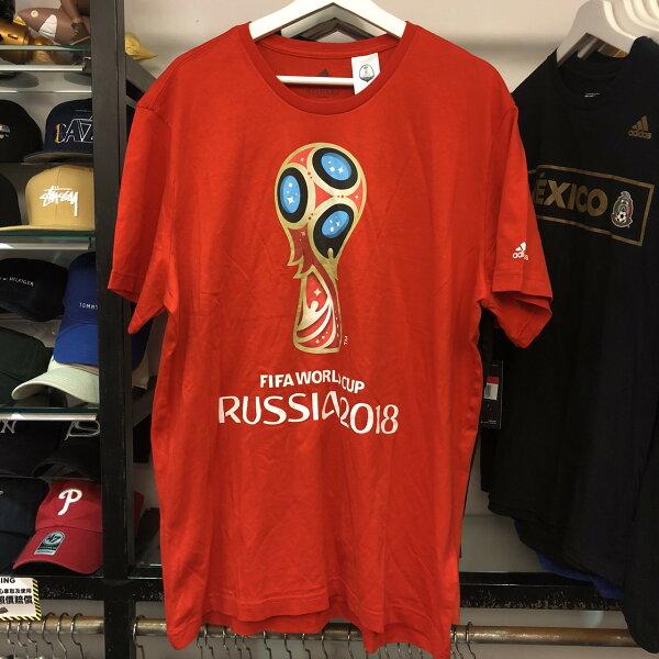 BEETLEADIDASFIFAWORLDCLUB2018世界盃足球賽紅短TEECV6336XLNT-194