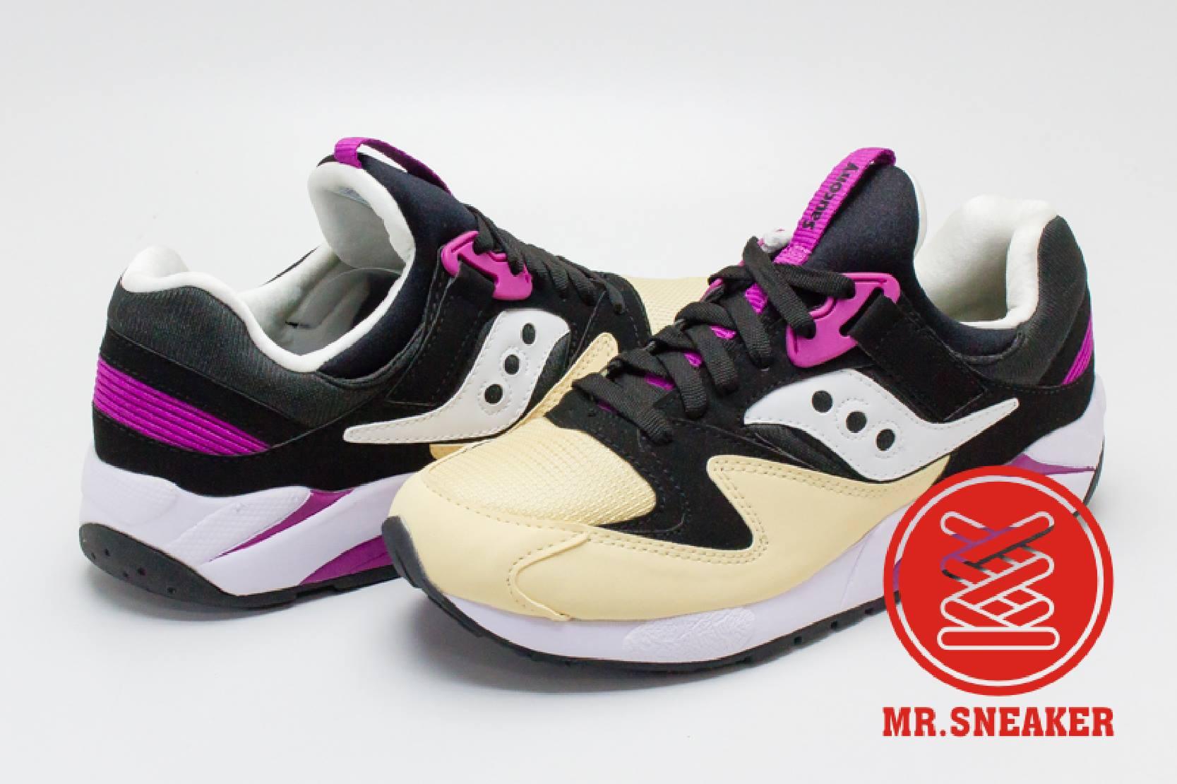 ☆Mr.Sneaker☆ Saucony Grid 9000 網狀避震 緩震 慢跑 索康尼 米黃/紫/黑 男段