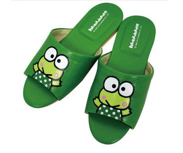 【C522704】大眼蛙室內皮製拖鞋(綠色),兒童拖鞋/室內拖鞋/舒適拖鞋/休閒拖鞋/生活居家/台灣製