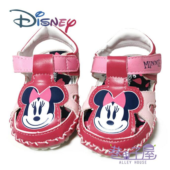 迪士尼DISNEY 手工系列-童款米妮包趾涼鞋 [118183] 桃粉 MIT台灣製造【巷子屋】