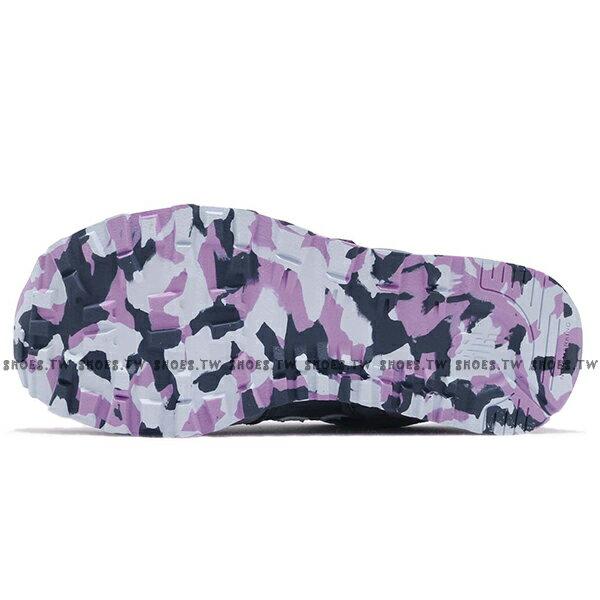 Shoestw【YV574UJA】NEW BALANCE NB574 運動鞋 黏帶 中童鞋 Wide 灰藍淺紫 3