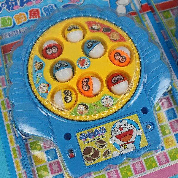 哆啦A夢電動釣魚組 電動釣魚盤 (附電池) /一個入{促120} 東匯釣魚童玩 ST安全玩具 佳20226D 出清商品