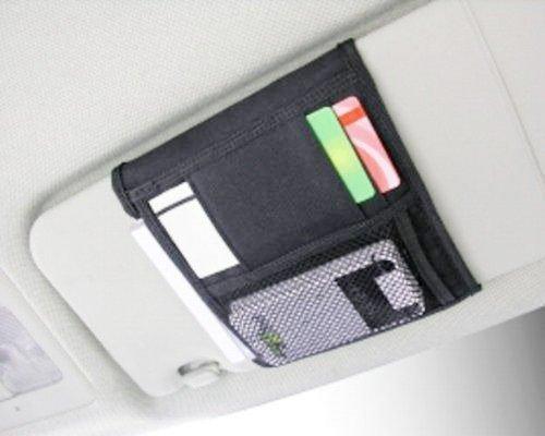 權世界@汽車用品 日本 SEIKO 小型遮陽板置物袋 收納套夾 EH-153