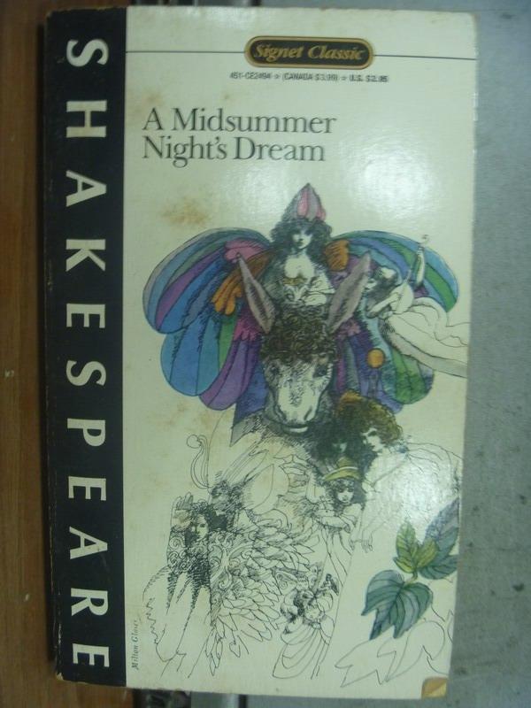【書寶二手書T4/原文小說_OTY】A Midsummer Nidht's Dream_Shakespeare
