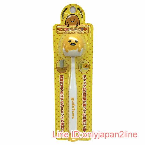 【真愛日本】17030900010 造型牙刷付吸盤-GU黃AAF 三麗鷗 蛋黃哥 牙刷 衛浴組