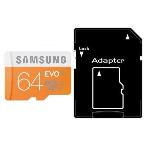 Samsung EVO 64GB microSDXC Class 10 48Mb/s 64G microSD micro SD SDXC UHS-I U1 C10 MB-MP64D fit GALAXY S5 with OEM SD Adapter 1