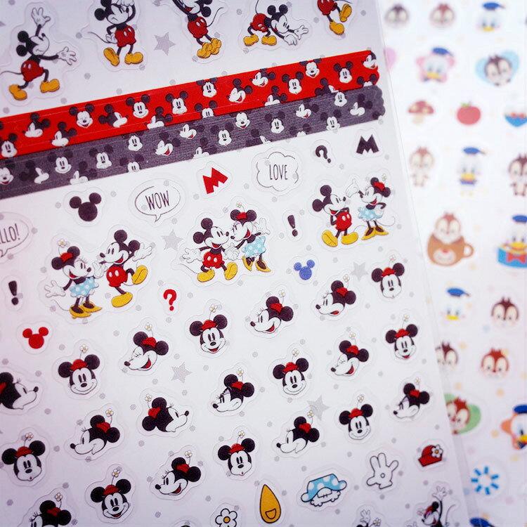 PGS7 裝飾 拍立得 底片 - 日本 迪士尼 手帳本 裝飾貼紙 米奇 Mickey 奇奇 蒂蒂 唐老鴨【SHJ7068】