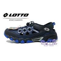 LOTTO樂得-義大利第一品牌 男款探險者山水車三棲鞋 排水系統 [6076] 藍【巷子屋】-巷子屋-潮流男裝