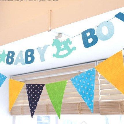=優 =韓國可愛卡通木馬baby girl  baby boy派對兒 飾用品生日兒童聚會拉