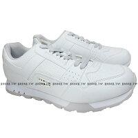 《限時特價799元》 Shoestw【63M1MK65RW】PONY復古慢跑鞋 全白 附灰鞋帶 男款 0