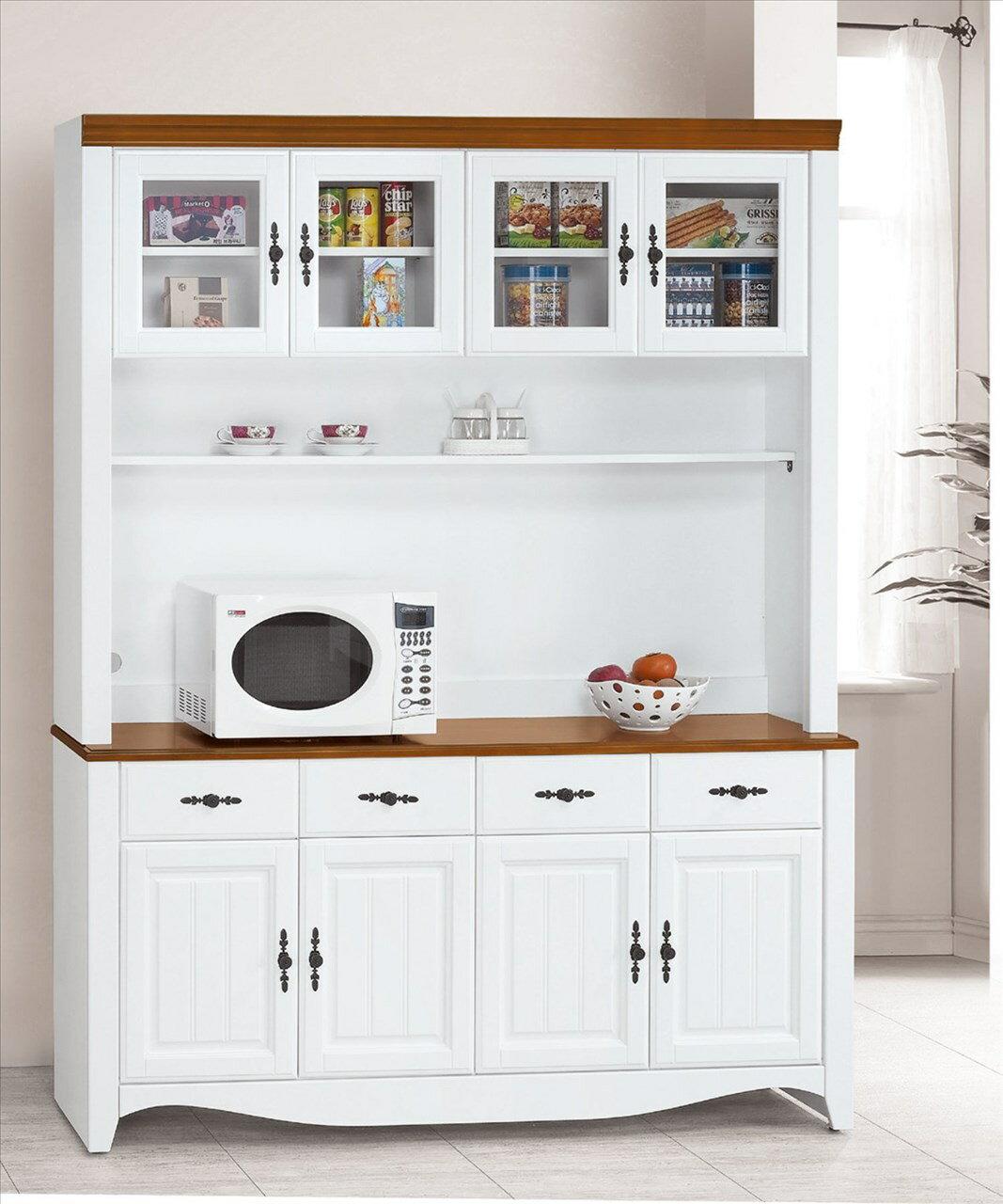 【石川家居】EF-4-6 泰豐白色5.3尺餐櫃組(全組) (不含其他商品) 需搭配車趟