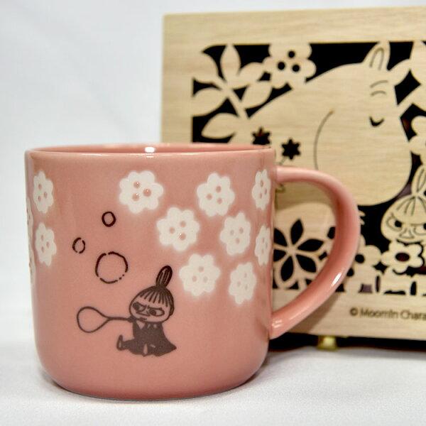 MOOMIN嚕嚕米小不點亞美陶瓷馬克杯鏤空花紋木盒正版日本製