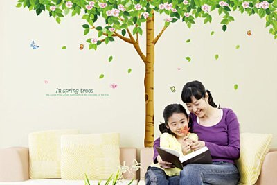 BO雜貨【YV2636】大型時尚壁貼 牆貼 壁紙 牆壁貼紙 創意璧貼 花樹 壁貼之家