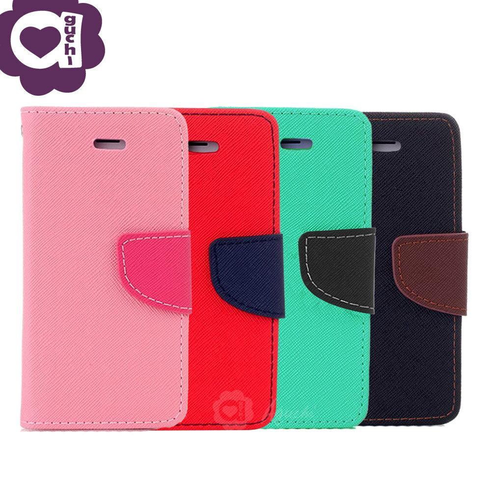 Samsung Galaxy S10e (5.8 吋) 馬卡龍雙色手機皮套 撞色側掀支架式皮套 矽膠軟殼 粉紅綠黑棕多色可選