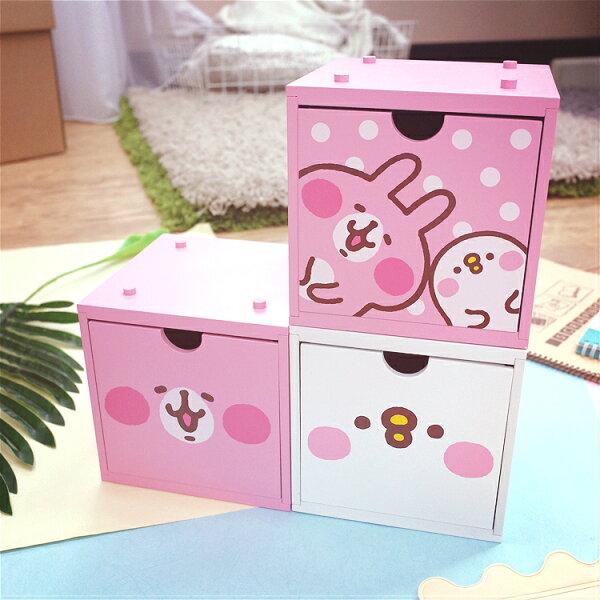 PGS7卡娜赫拉系列商品-卡娜赫拉Kanahei積木組合小方櫃櫃子兔兔P助【SI2D71021】