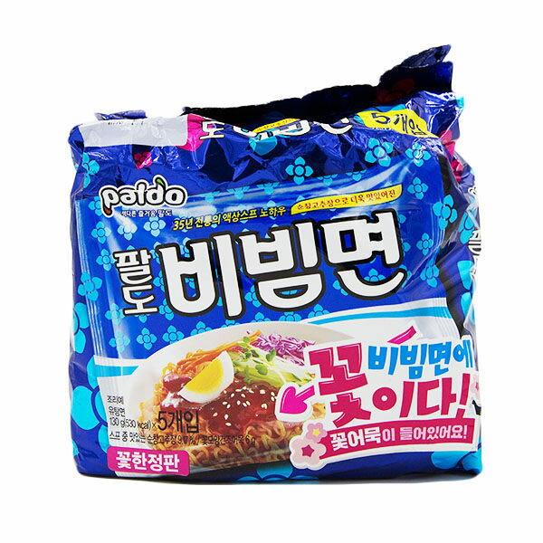 韓國Paldo八道辣拌拌麵(櫻花魚板)5入650g泡麵乾麵拌麵櫻花魚板辣味韓國泡麵