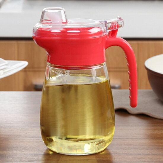 ♚MY COLOR♚帶蓋回油式玻璃壺 醬油 酒醋 液體 防漏 玻璃 調味 廚房 油瓶 料理