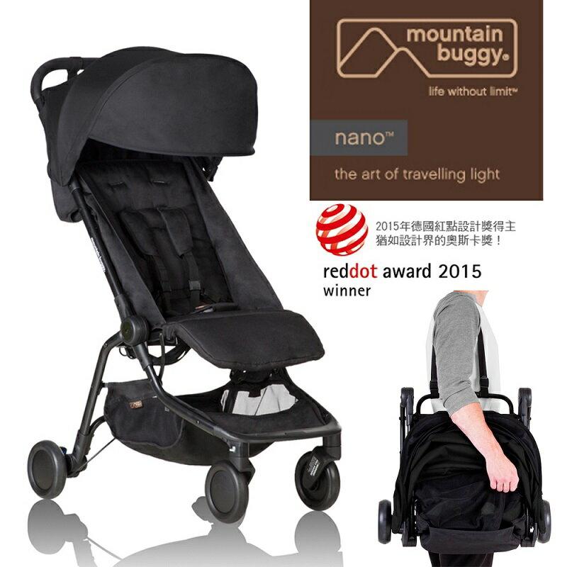 Mountain Buggy - 第二代 nano 全地形輕巧折疊推車 (黑)