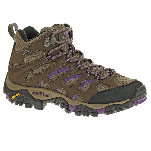 《台南悠活運動家》MERRELL 美國 女高筒登山鞋 MOAB MID GORE-TEX深棕紫 ML21444